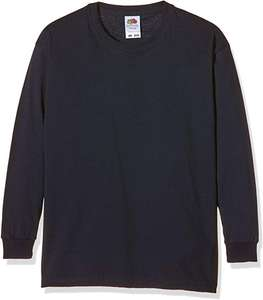 Fruit Of The Loom Kids 100% Cotton Jumper/Tee (Deep Navy) Size: 3-4 Years only 88p [Add-on Item] at Amazon.co.uk