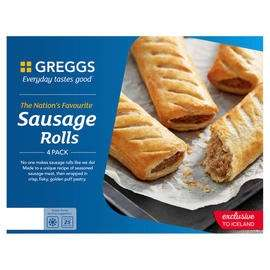 Greggs 4 Sausage Rolls 427g £1 online with code  @ Iceland