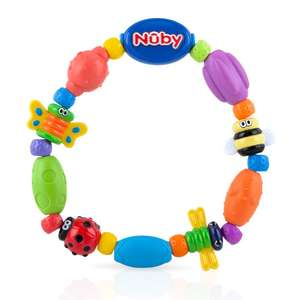 Nuby Bug A Loop Teether, Multi-Colour baby teether for £3.09 add on item at Amazon (£20 spend)