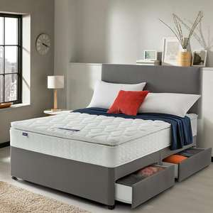 Silentnight Miracoil 3 Pippa Ultimate Pillowtop Divan Bed with 2 Drawers (No Headboard) £336.19 Delivered w/code @ Very