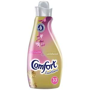 Comfort Creations Fabric Conditioner Honeysuckle & Sandalwood 33 Washes now £1.75 at Asda Groceries discount deal