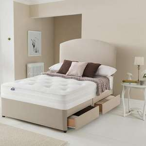 Silentnight Double Mirapocket Penny 1200 Deluxe Mattress & Divan Bed £320.19 / £368.19 with 2 Drawers w/code @ Very  - See OP