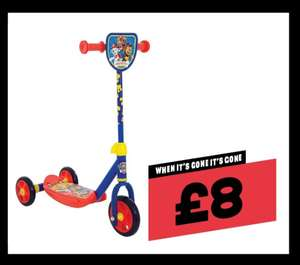 Paw Patrol first tri scooter £8 at Jacks instore
