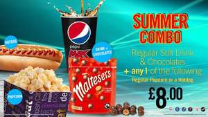 Popcorn/Hotdog, Soft Drink & Chocolates for £8 at Reel Cinema