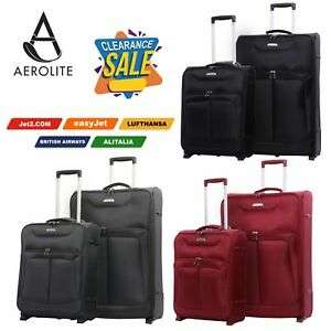 Aerolite Expandable Super Lightweight Hand Luggage Cabin Suitcase Bags from £17.99 at luggagetravelbags ebay