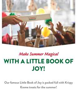 Krispy Kreme Little Book of Joy Summer Offers (50% off Kreme Shake, Buy one get one free doughnuts, £1 off 3-pack and more)
