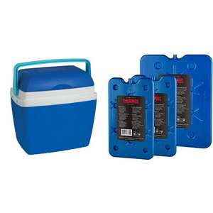 Thermos Cool Box, Blue, 32 L & Freeze Boards pack of 3 now £25.98 delivered at Amazon