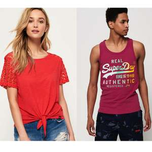 New Superdry Men's and Women's Tops & T-Shirts (40+ designs) now £8.99 + Free Delivery at Superdry / eBay
