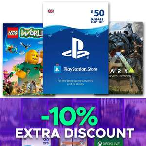 10% Off Site-Wide With code @ Eneba - EG: £50 Playstation Network Card £41.77 Sold By WorldAPI  - See OP For More