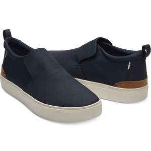 Up to 70% Sale + Free Delivery @ TOMS - Navy Canvas Nylon Men's Paxton Shoes  (was £60) now £18.00 delivered