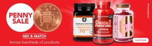 10% off when you spend 40 Pounds online or In-store. Can be used on top of Penny sale at Holland and Barrett
