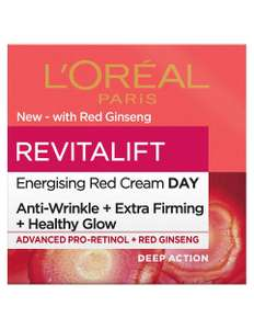 Sainsbury's - L'Oreal Paris Revitalift Energising Red - Day Cream with Ginseng - £7.50