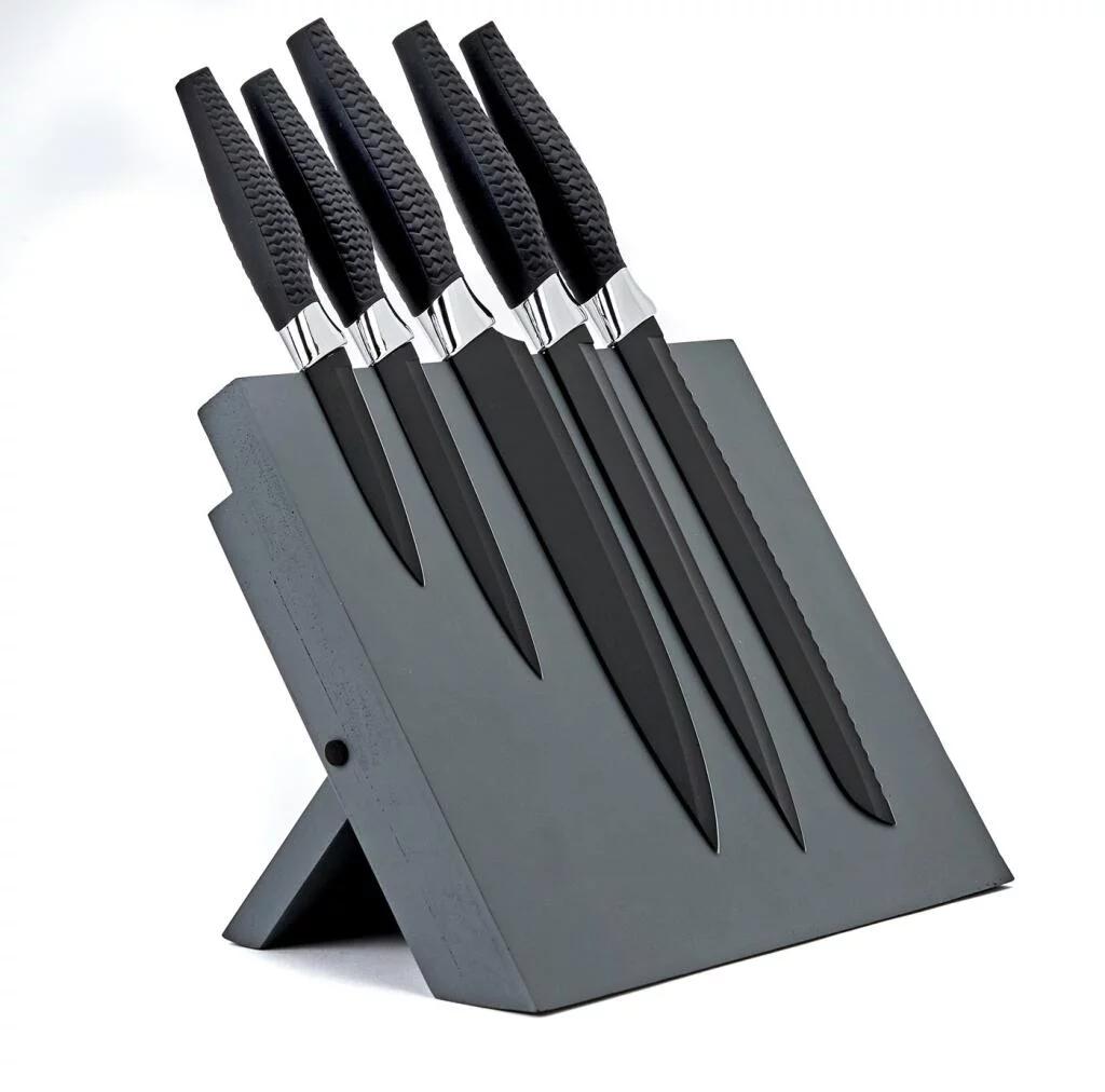 Argos Home 5 Piece Magnetic Knife Block Set - Chrome £10.50 @ Argos (Free C&C)