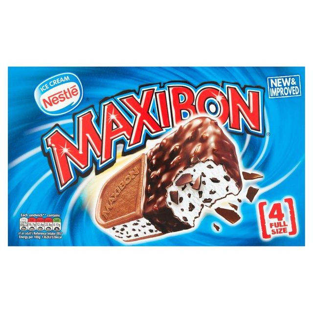Nestle Maxibon Vanilla Sandwich 140ml @ Heron Foods 4 For £1 Or 39p