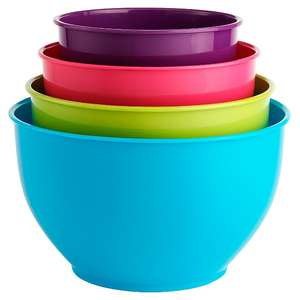 4 Piece Coloured Mixing Bowl Set , Now £3 ( Add on item ) @ Asda ( free C&C )