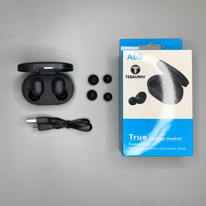 A6S BT 5.0 TWS Bluetooth Earphone VS Redmi Airdots Wireless Headphone Stereo Headset Mini Earbuds New User Code $3 off! Deal @ AliExpress
