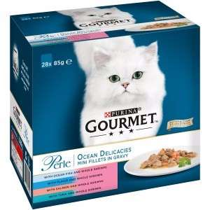 Gourmet Perle Cat Food Ocean Delicacies 28x85g and Gourmet Perle Cat Food Chef's Collection 28x85g  £5.00 @ Pets at Home instore and online