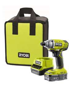 Ryobi one + impact driver 18v 2ah battery at Amazon for £76.88