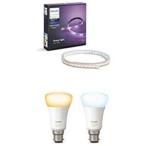 Over 25% off Philips Hue Lightstrip Bundles from £69.99 at Amazon