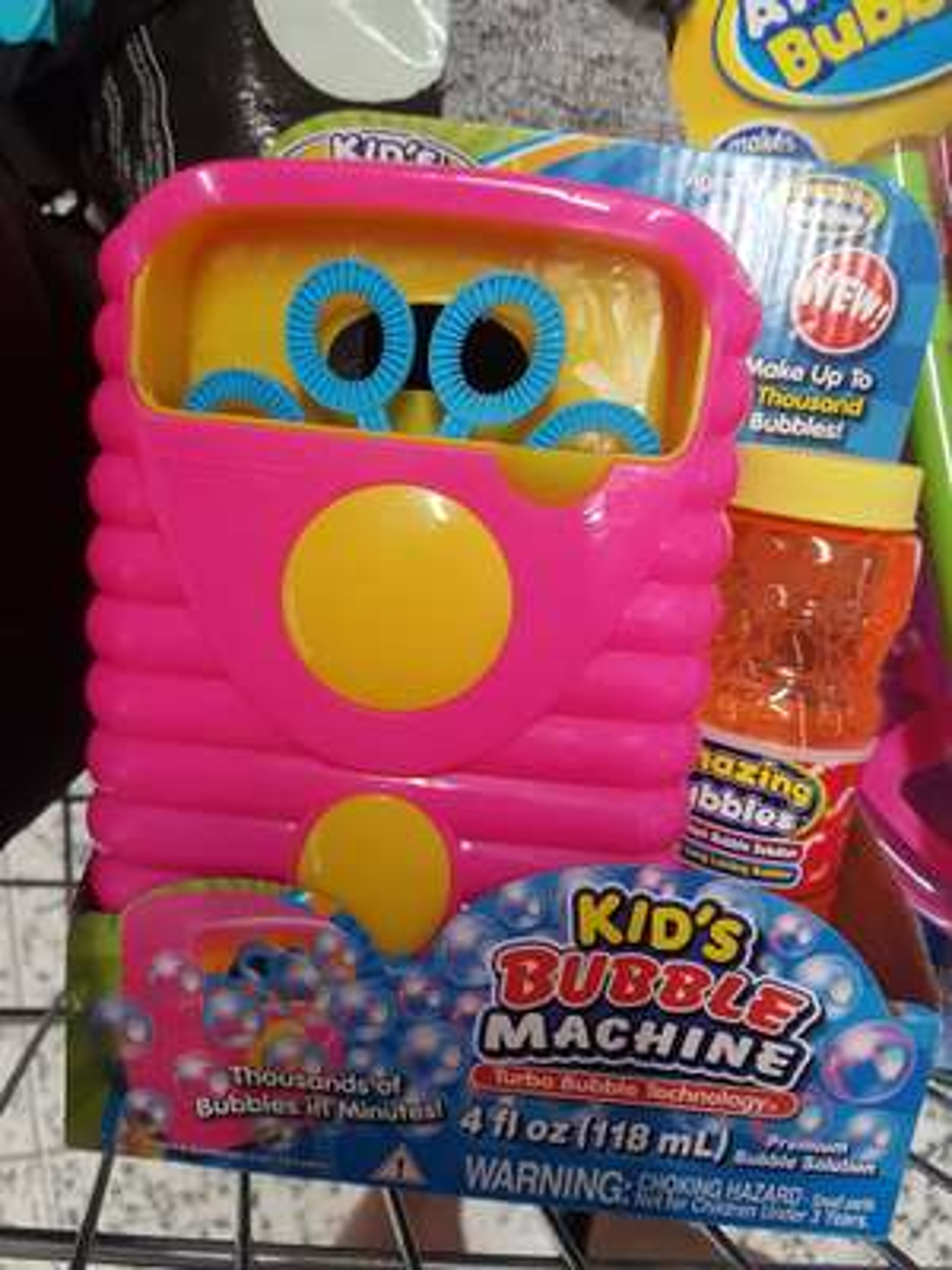 Bubble machine £1.25 / Giant bubble wand 75p at Asda instore