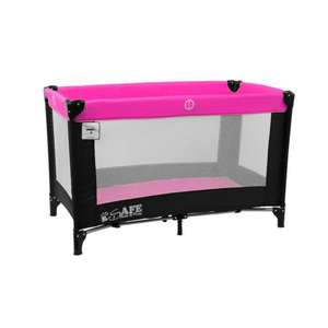 iSafe Rest & Play Travel Cot (Black/Pink) £24.95 at PreciousLittleOne