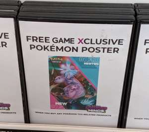 Free Game Xclusive Pokémon Poster @ Game (Bury) when you buy any Pokémon TCG related products