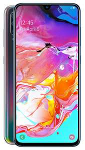 Samsung Galaxy A70 Black monthly EE deal 60gb data / unlimited text/minutes £24.50/24 months at Fonehouse