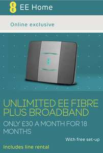 EE Fibre PLUS 67megs £30 x 18months £540 (£120 Amazon credit = £420) @ Vouchercodes TODAY 4/8 ONLY