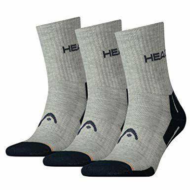 3 pack Head sports socks - Grey £6.95 (Prime) / £11.44 (non Prime) at Amazon