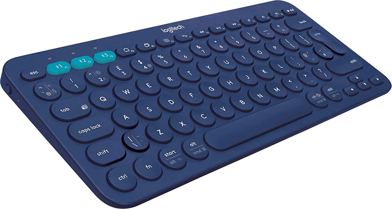 Logitech K380 Multi-Device Bluetooth Keyboard Win, Mac, Chrome, Android, iOS / Apple TV - UK, Blue - £17.99 (Prime) / £22.48 (NP) @ Amazon