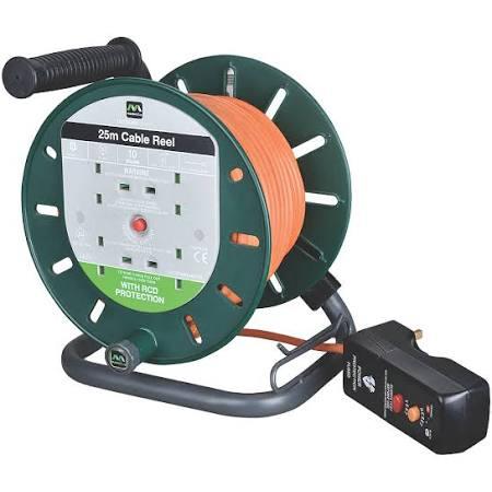 Masterplug LDCS2510BQ/4RCD-XD 10A 4-Gang 25m Cable Reel 240V for £23.99 @ Screwfix (Free C&C)