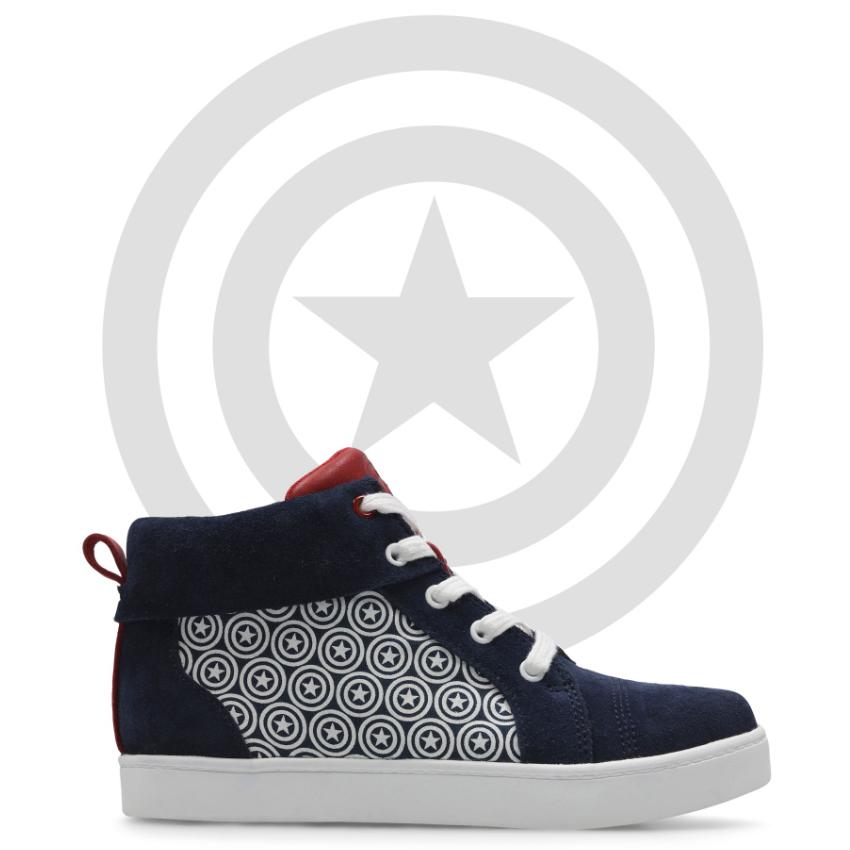 Captain America Kids City Hero Hi Top Shoes (was £40) Now £10 C&C @ Clarks