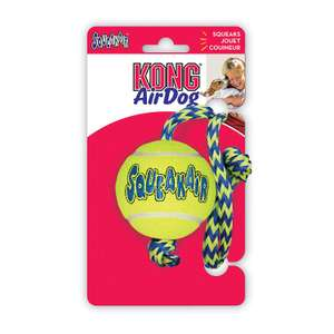 KONG Dog SqueakAir Ball with Rope now £1.99 (Prime) + £4.49 (non Prime) at Amazon