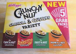Kellogg's Crunchy Nut Granola & Clusters Variety 5 Pack 69p in store @ Heron Foods