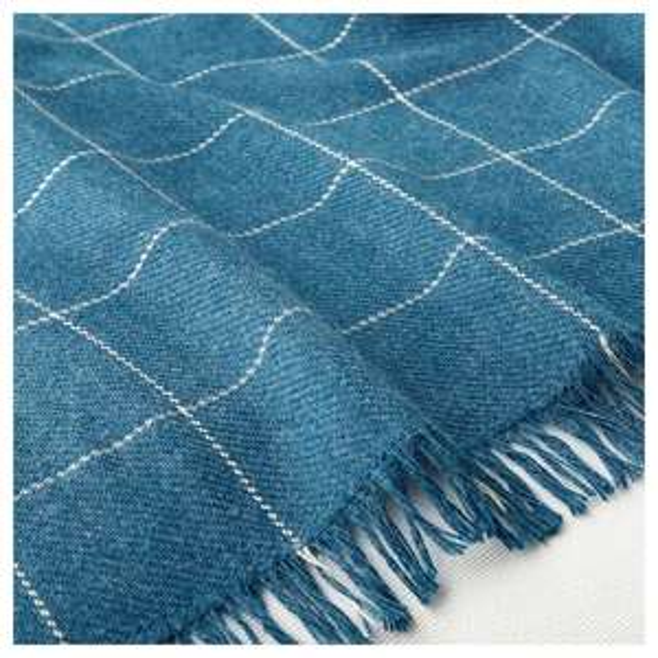 VÅRKRAGE Throw, blue, 110x170 cm £4 @ Ikea