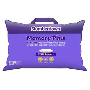 Slumberdown Memory Plus Pillow - BOGOF - 2 Pillows Total - £15.99 @ Sleepseeker