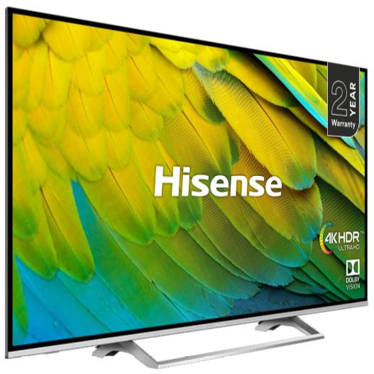 "Hisense 65"" H65B7500UK (2019 model) LED HDR 4K Ultra HD Smart TV + 5 Year Warranty - £799 (with cashback £699) @ John Lewis & Partners"