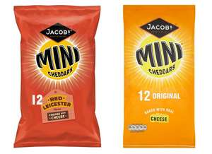Jacobs Mini Cheddars / Red Leicester 25g - Pack of 12 for £1.50 @ Tesco (from 07/08)
