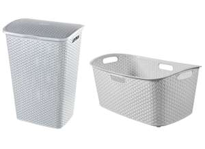 Curver My Style Laundry Hamper 55L - £9 or Laundry Basket 47L - £5 in Grey @ Wickes (Free C&C)