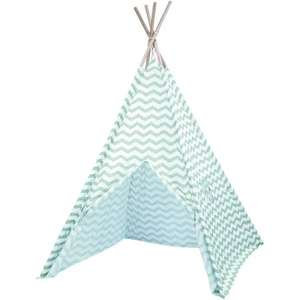 Blue Zigzag Teepee Tent (Was £25) Now £15 C&C @ The Works