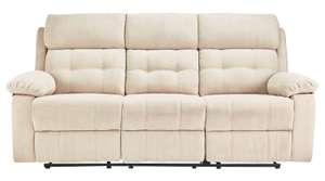 Argos Home June 3 Seater Fabric Recliner Sofa - Natural - £321.94 Delivered with code @ Argos