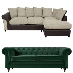 30% off Sofas / Arm Chairs + More on £400+ Spends - EG Home Harry Large Corner Fabric Sofa £359.94 Delivered @ Argos