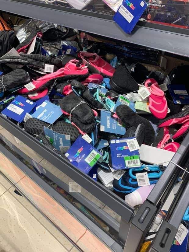 Aqua Shoes £1 - LIDL Birkenhead instore