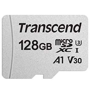 Transcend 128GB microSDXC/SDHC 300S Class 10 Memory Card for £12.99 Prime (+£4.49 NP) @ Sold by & Dispatched from Amazon UK