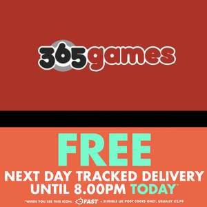 Free next day tracked delivery until 8pm today @ 365games