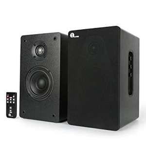 1byone Wireless Powered Classic Bookshelf Speaker System with Remote Control - £24.99 @ Sold by ONE BY ONE (UK) and Fulfilled by Amazon.