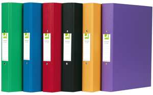 Q-Connect A4 2 Ring Binder Polypropylene - Assorted, Pack of 10 - £6.78 @ Amazon (Add on item)