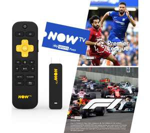 Now TV Stick With Voice Remote & 3 Month Sky Sports Pass £49.99 Delivered Using Code @ Currys