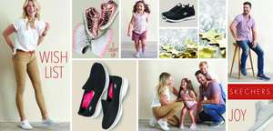 Skechers - buy one pair get 30% off 2nd pair instore at Livingston Designer outlet