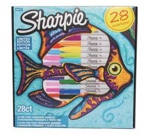 WHSmith 28 Sharpie Pens £12.99 (£10.44 W/ NUS card) with any purchase (including a 5p chocolate)